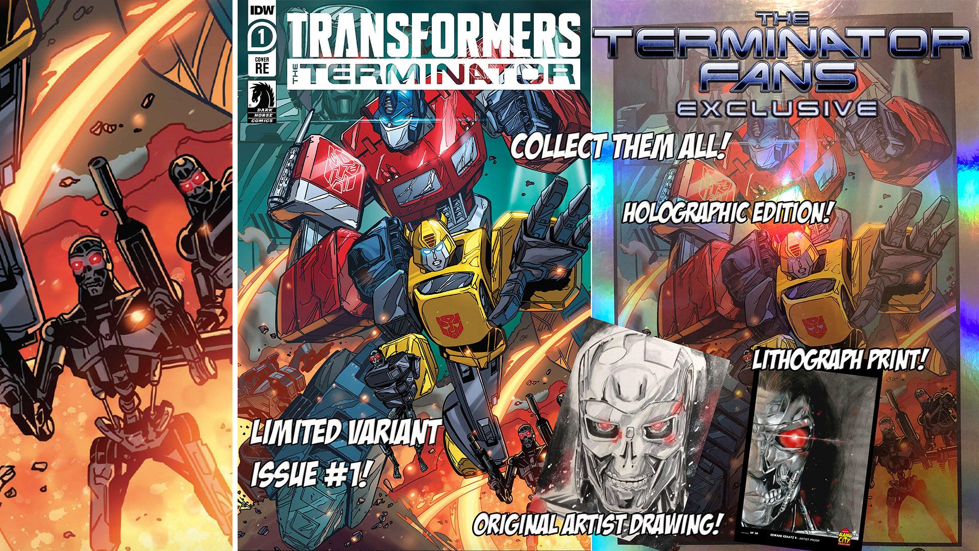 Transformers vs The Terminator Edward Kraatz II Collectors Group Package