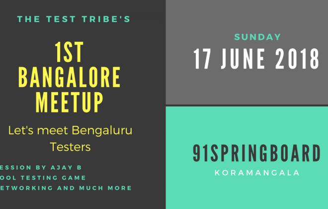 The Test Tribe Bangalore Meetup