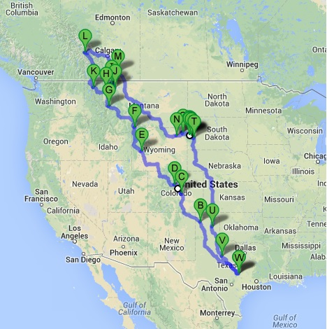 National Park Motorcycle Ride – 5542 Miles in 16 Days 2013 (1/6)