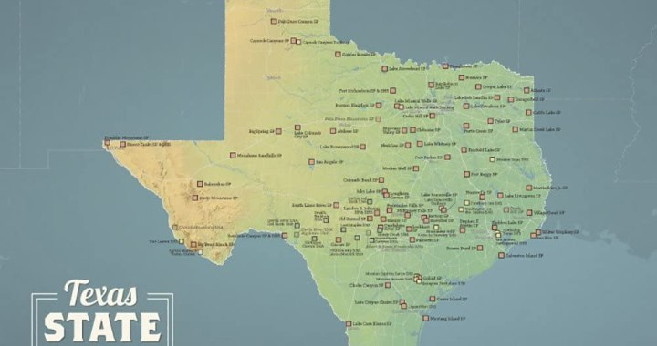 Gear: Texas State Park Map