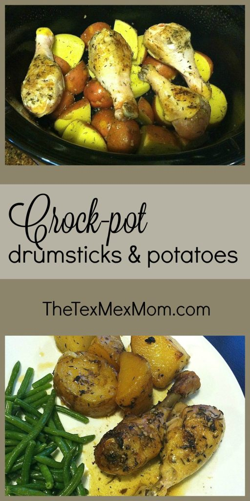 crockpot drumsticks and potatoes