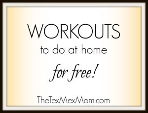 Workouts you can do from home for free