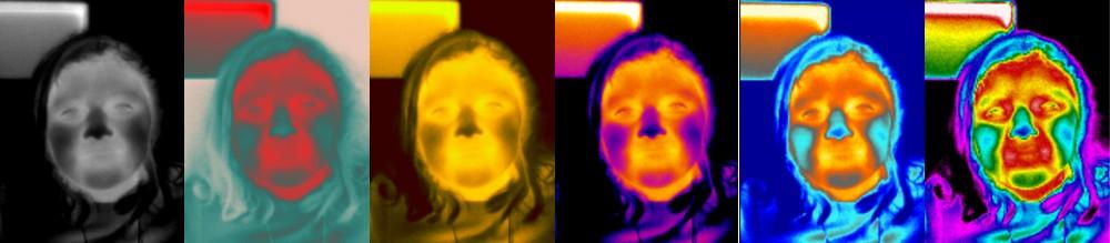 Palettes des couleurs les plus courantes pour les caméras thermiques FLIR