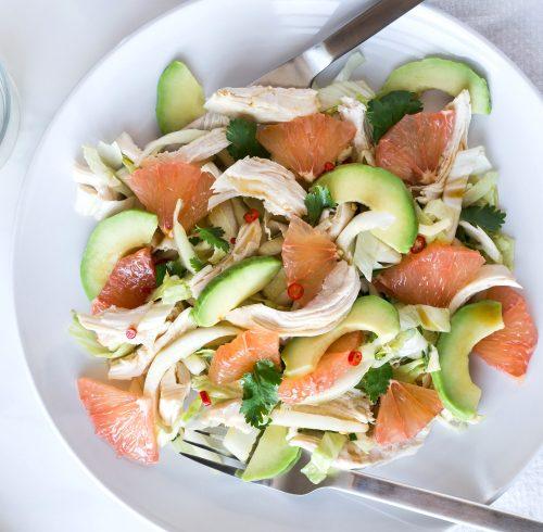 Avocado and Grapefruit Turkey Salad