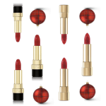 lipstick and red christmas ornament dolce and gabbana