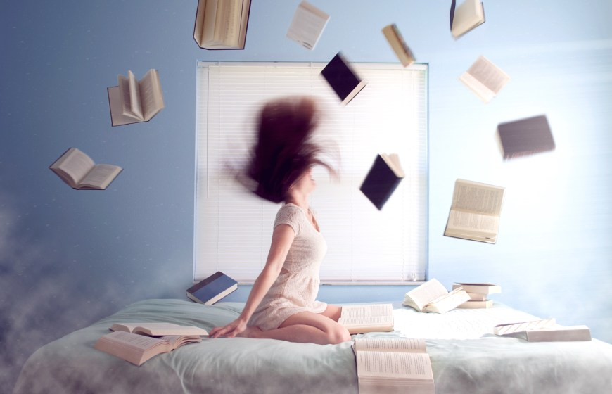 Women with books everywhere