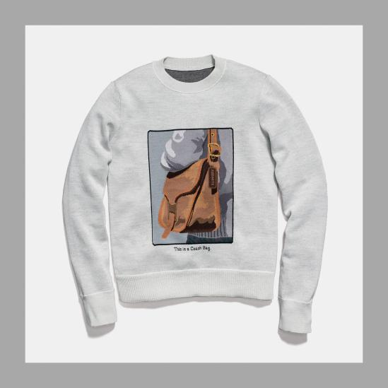 Coach and Rodarte Crewneck with Archive Intarsia
