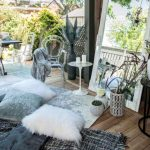 urban barn mirror, pillow, blanket and accessories