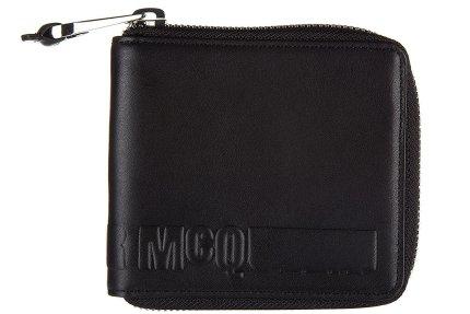 MCQ Alexander McQueen men's wallet leather coin case holder purse card bifold zi