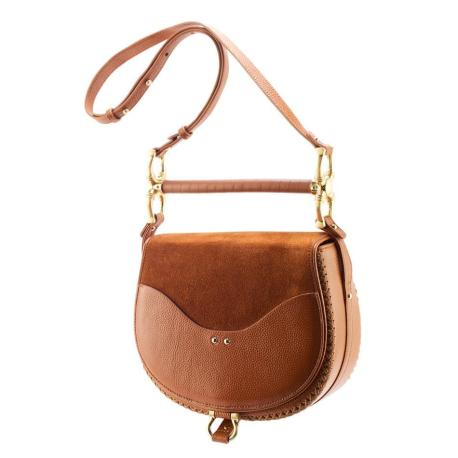 With Love From Jess and Jules Sancia The Babylon Bar Bag - Cognac Suede