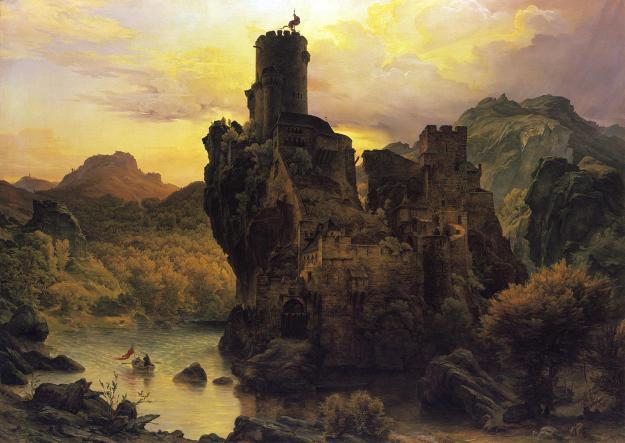 Karl Friedrich Lessing, Castle on a Rock (date unknown)