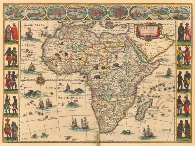 1644 map of Africa by Willem Janszoon Blaeu. Photo via Princeton University.