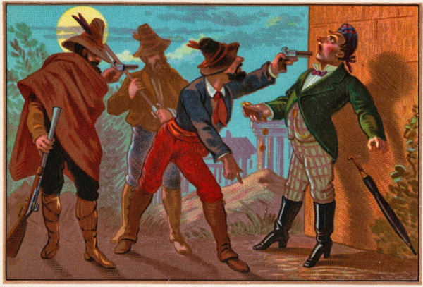 Nineteenth-century advertising card. Image via The Boston Public Library.