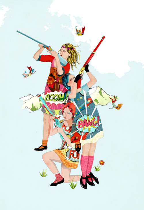 Bang Bang Grils by Delphine Lebourgeois.