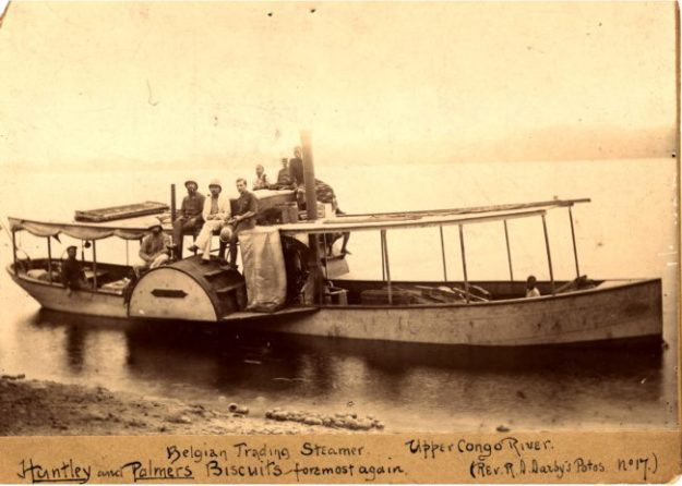 Steamboat on the Upper Congo River (c. 1890). Image via Wikimedia Commons.