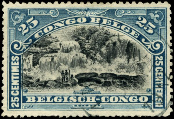 Belgian Congo stamp via Wikimedia Commons.