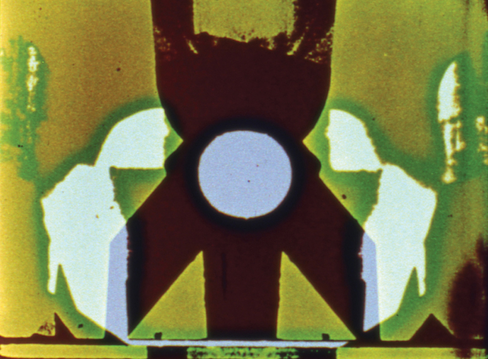 A still from 7362 (1966-67) a film by PAT O'NEILL. Sound, colour, 11mins, 16mm.