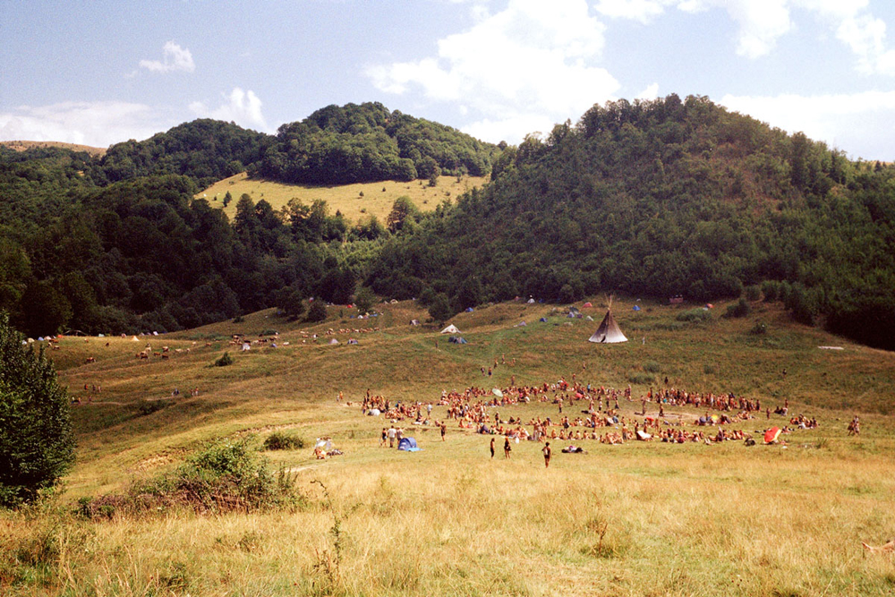 Food circle some days before full moon, Romania.
