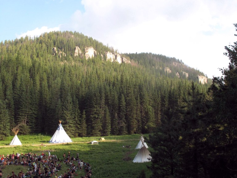 A CONTROVERSIAL RAINBOW GATHERING On Sacred Native American Treaty Land