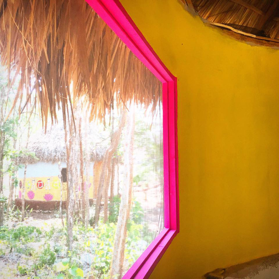 This is my finished home palapa view finally my own private room.