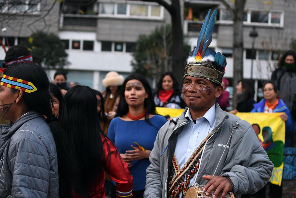 Félix Santi, President of Sarayaku, Kichwa tribe in Ecuador.