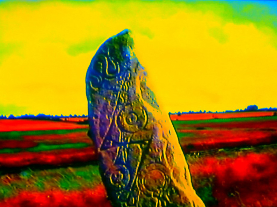 A still from In Search of Exile (2016) A film by Clara Pais and Daniel Fawcett. HD/DV/VHS Colour, Sound & Music by The Phantom Film Band, 63 mins.