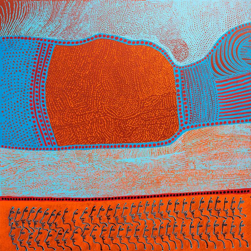 MY HEART'S ABODE (2016) by Yayoi Kusama. Acrylic on canvas, 194 x 194 x 7 cm