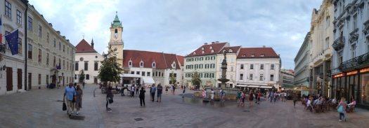 The main square in Bratislava