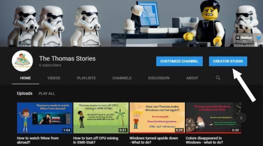 Thomas visits the Creator Studio on YouTube
