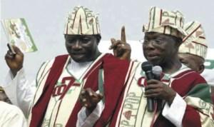 President Goodluck Jonathan and Former President Olusegun Obasanjo