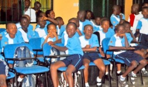 School children at a public event in Port Harcourt. Photo: Obinna Prince Dele
