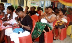 Mothers breastfeeding their babies  Photo: Nwiueh Donatus Ken