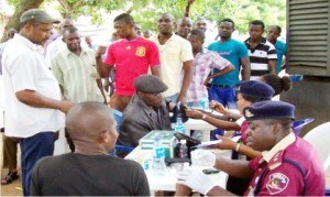 FRSC's Medical Team carrying out free medical services in Onitsha, recently         Photo: NAN