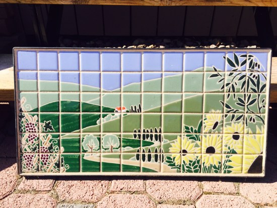This beautiful landscape mural will be a prominent feature in a customer's back yard!