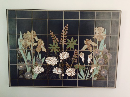 This gorgeous indoor/outdoor mural now sits in a customers kitchen.