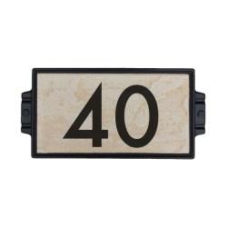 """Sandy Stone 6""""x12"""" Address Plaque"""