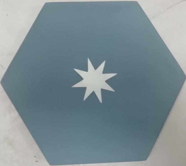encaustic tile va hexagon handmade teale white star encaustic tile 20cm x 23cm