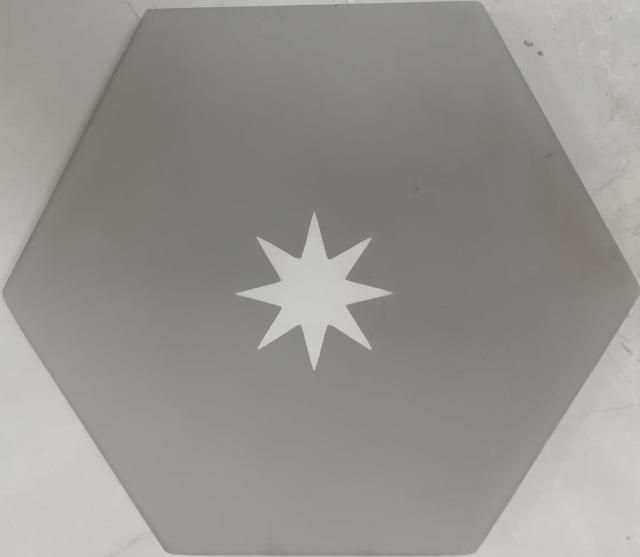 encaustic tile va hexagon handmade grey white star encaustic tile 20cm x 23cm