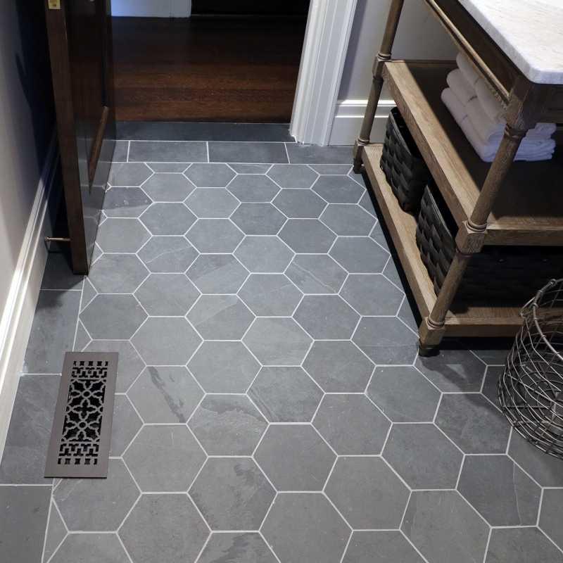 brazil black 8 hexagon floor