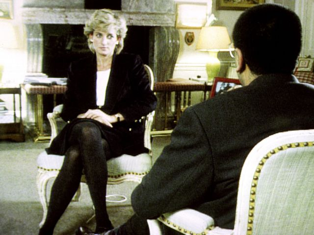 A still from the notorious 1995 Panorama interview