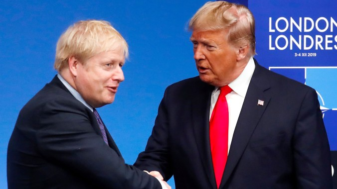 Johnson and Trump met at this month's Nato summit in London