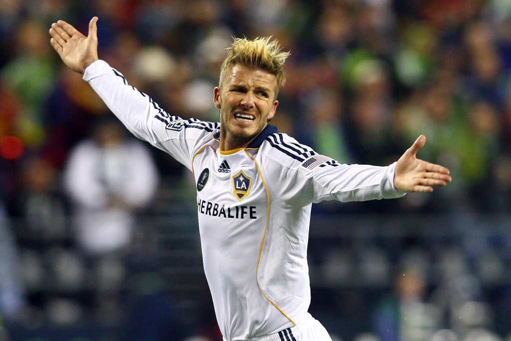 David Beckham La Galaxy Play Real Salt Lake In The Mls Cup At Qwest Field Seattle