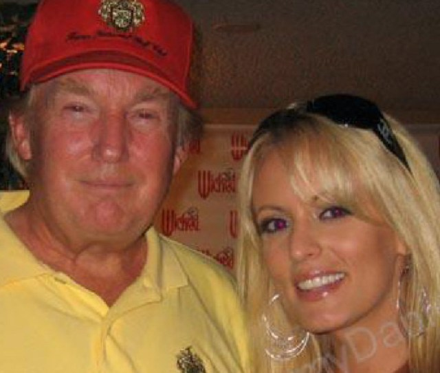 Donald Trump With Stephanie Clifford Who Appeared In About 150 Adult Films