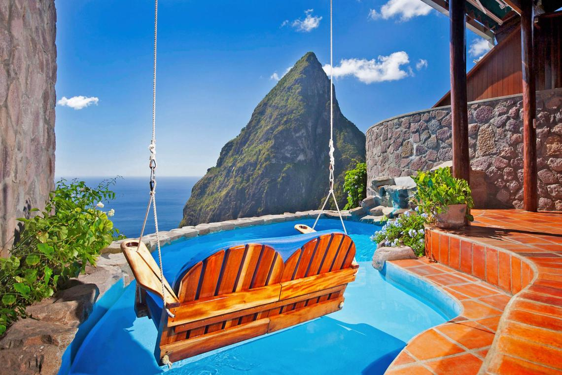 Ladera, St Lucia, may have the Caribbean's most impressive setting