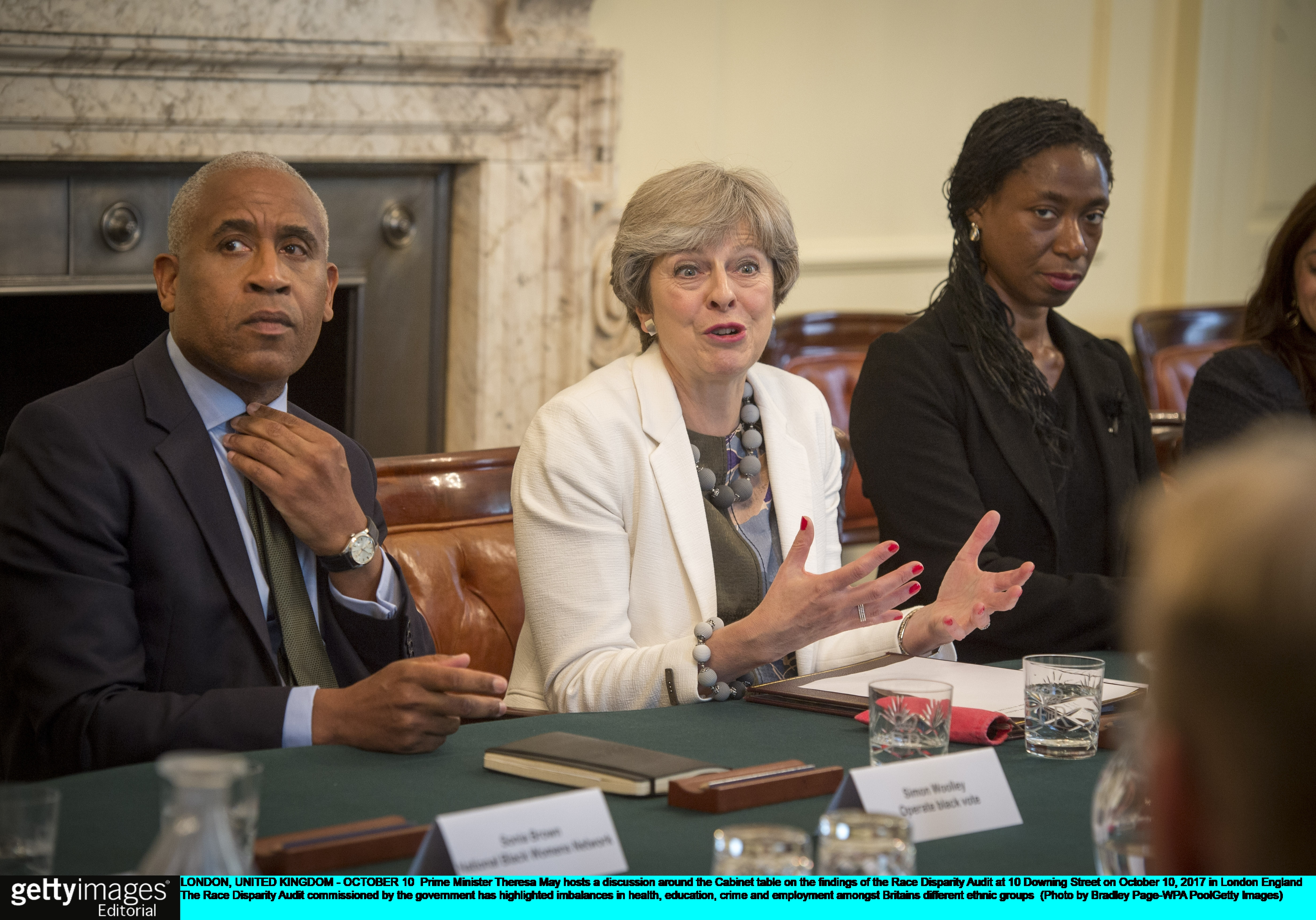 Theresa May discussed inequality in the Race Disparity Audit at No 10 yesterday