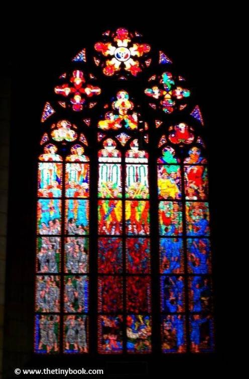 St. Vitus, stained glass.