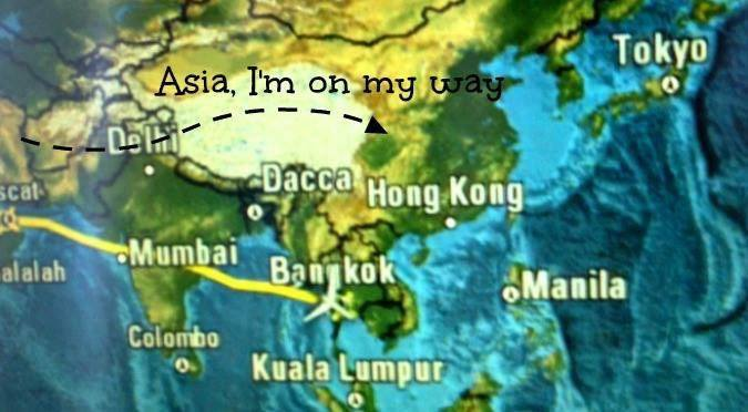 Dreaming Far, Asia I'm on my way.