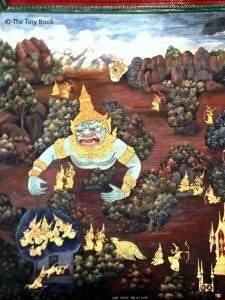 Wall paintings, Wat Phra Kaew - Bangkok