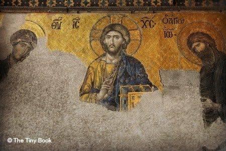 Mosaic: Deësis.The Holy Soul of Istanbul, mosaics of Hagia Sophia