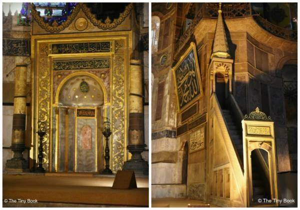 The Holy Soul of Istanbul: Hagia Sophia, altar facing the Mecca and minbar